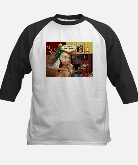 Santa's Golden (Therapy) Kids Baseball Jersey