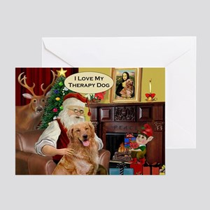 Santa's Golden (Therapy) Greeting Cards (Pk of 20)