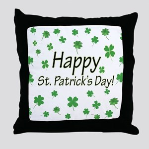 Happy St Patricks Day Throw Pillow