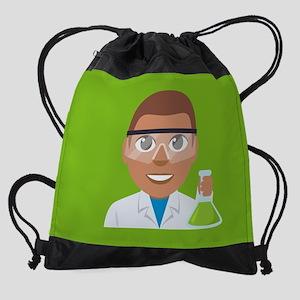 Emoji Scientist Drawstring Bag
