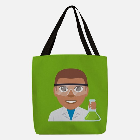 Emoji Scientist Polyester Tote Bag
