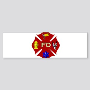 Maltese Cross - Bold non-traditiona Bumper Sticker