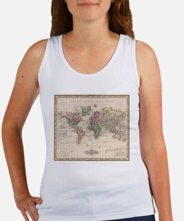 Vintage Map of The World (1833) Tank Top