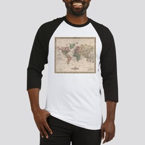 Vintage Map of The World (1833) Baseball Jersey