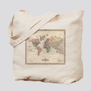 Vintage Map of The World (1833) Tote Bag