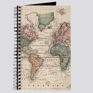 Antique world map notebooks cafepress vintage map of the world 1833 journal gumiabroncs Images