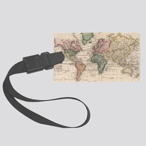Vintage Map of The World (1833) Large Luggage Tag