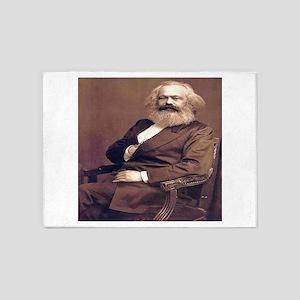 Karl Marx 5'x7'Area Rug
