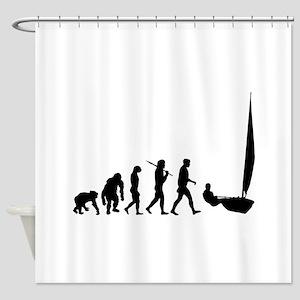 Sailing Evolution Shower Curtain