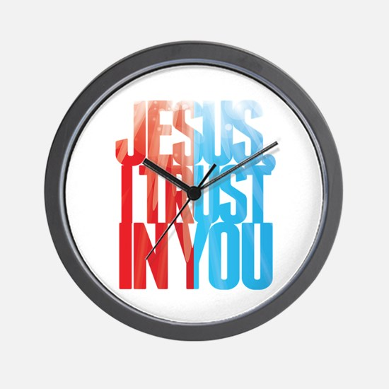 Jesus I Trust in You Wall Clock