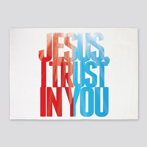 Jesus I Trust in You 5'x7'Area Rug