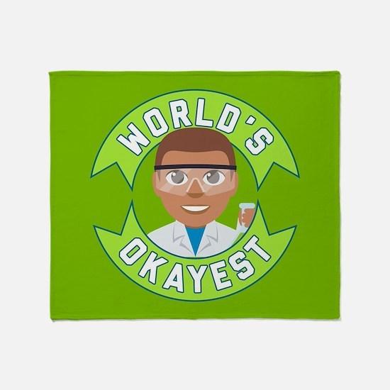 Emoji Okayest Scientist Throw Blanket