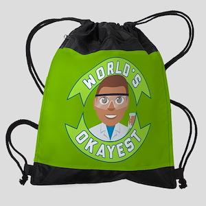 Emoji Okayest Scientist Drawstring Bag