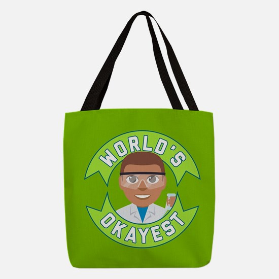 Emoji Okayest Scientist Polyester Tote Bag
