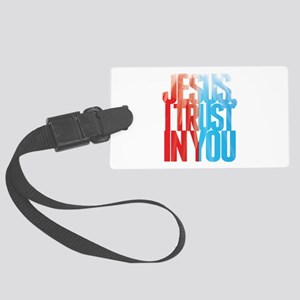 Jesus I Trust in You Large Luggage Tag
