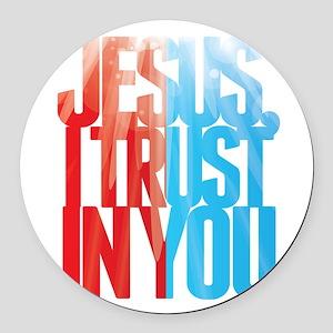 Jesus I Trust in You Round Car Magnet