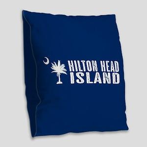 Hilton Head Island, South Caro Burlap Throw Pillow