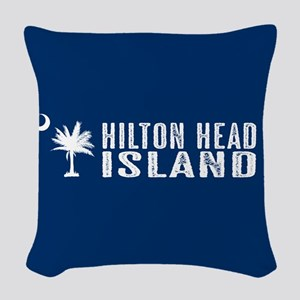 Hilton Head Island, South Caro Woven Throw Pillow