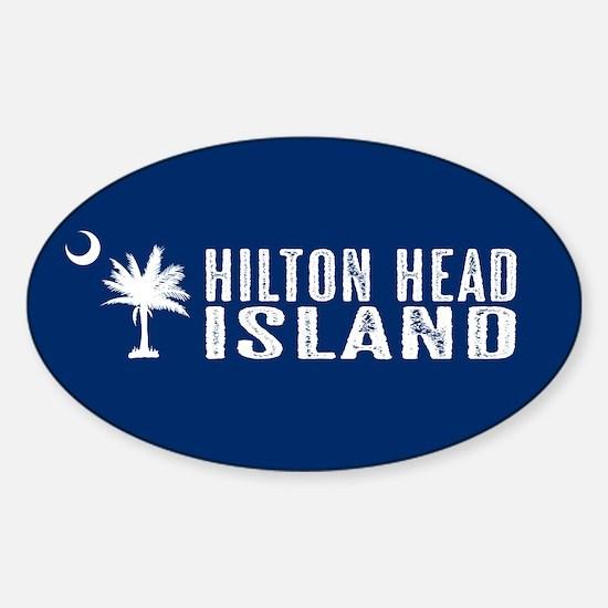 Hilton Head Island, South Carolina Sticker (Oval)