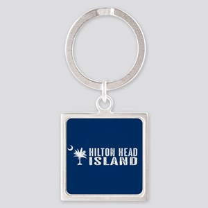 Hilton Head Island, South Carolina Square Keychain