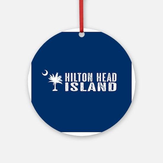 Hilton Head Island, South Carolina Round Ornament