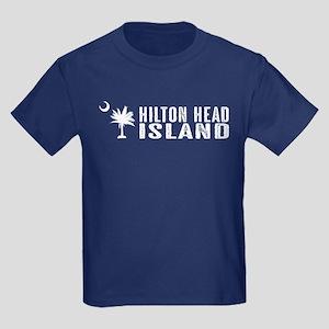 Hilton Head Island, South Caroli Kids Dark T-Shirt