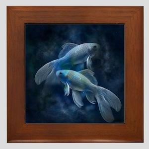 Blue Fish Framed Tile