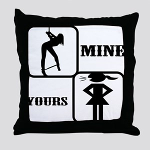 Your Girl vs Mine Throw Pillow