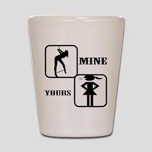 Your Girl vs Mine Shot Glass
