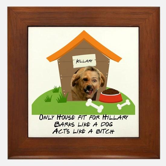 Cute Let dog in let dog out Framed Tile