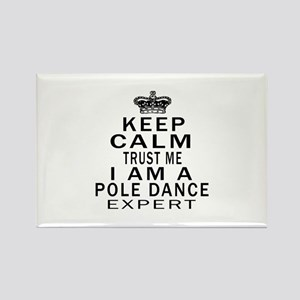 Pole Dance Dance Expert Designs Rectangle Magnet