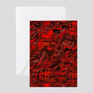 Abstract Glass Bent Bright Contrast Greeting Cards