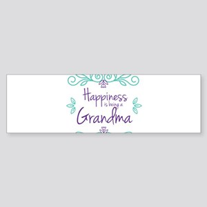 Happiness is being a Grandma Sticker (Bumper)