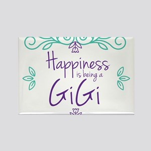 Happiness is being a GiGi Rectangle Magnet