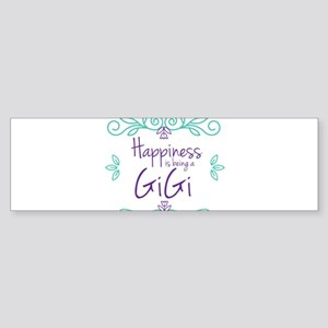 Happiness is being a GiGi Sticker (Bumper)