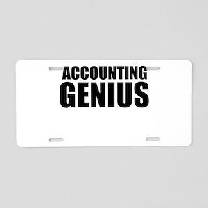 Accounting Genius Aluminum License Plate