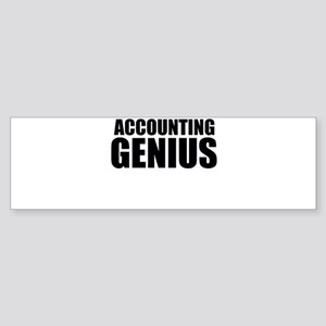 Accounting Genius Bumper Sticker