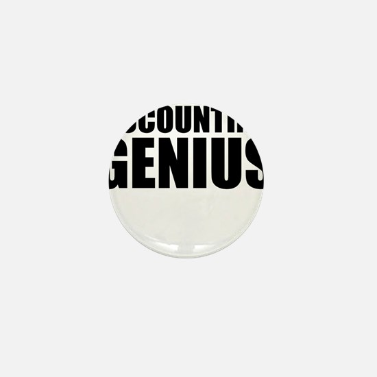 Accounting Genius Mini Button