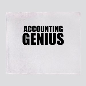 Accounting Genius Throw Blanket