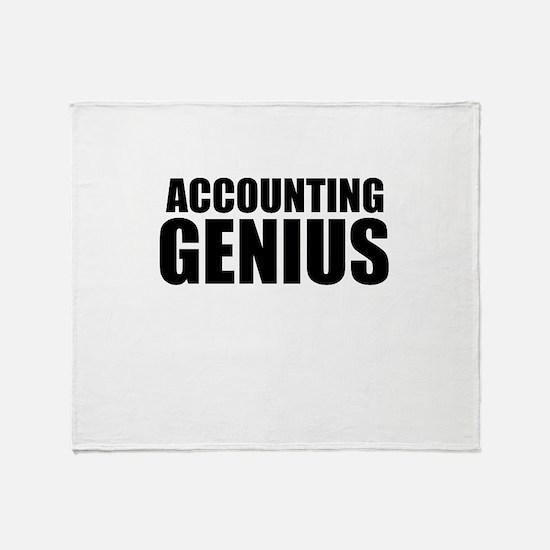 Accounting Genius Throw Blanket