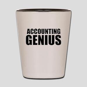 Accounting Genius Shot Glass