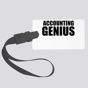Accounting Genius Luggage Tag