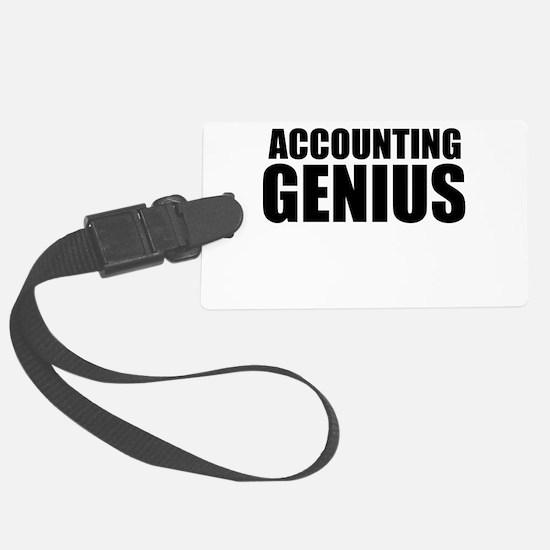 Accounting Genius Luggage Tag