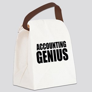 Accounting Genius Canvas Lunch Bag