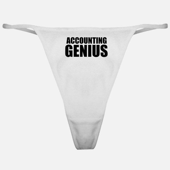 Accounting Genius Classic Thong
