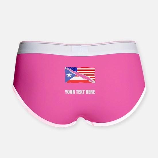 Puerto Rican American Flag Women's Boy Brief