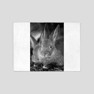 Animal Bunny Cute Ears Easter 5'x7'Area Rug