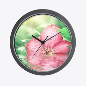 Water Flower Wall Clock