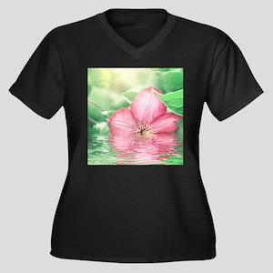 Water Flower Plus Size T-Shirt