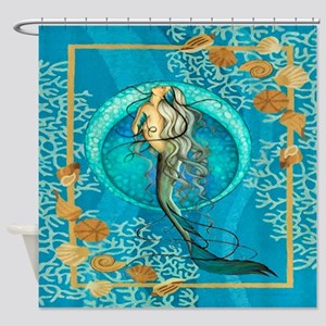 Nautical Mermaid Shower Curtain